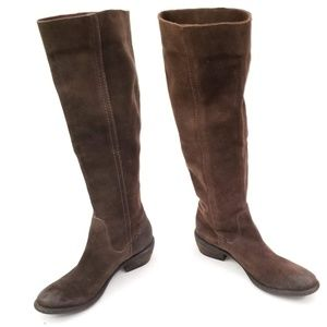 Bronx Suede Brown Pull on Boots Size EUR Size 37